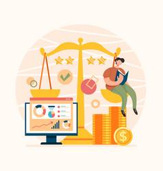 broker service analytical consultant advisor vector image