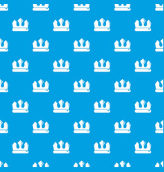 bronze crown pattern seamless blue vector image