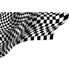 Checkered flag wave on white blank space design vector