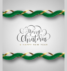 christmas and new year luxury gold garland vector image
