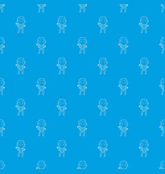 clown pattern seamless blue vector image