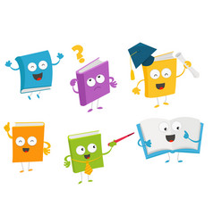 Collection of book characters vector