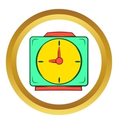 Colorful alarm clock icon cartoon style vector