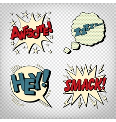 Comic Bubbles with Expressions Pop Art vector