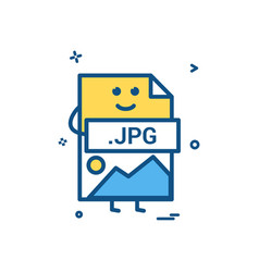 computer jpg file format type icon design vector image