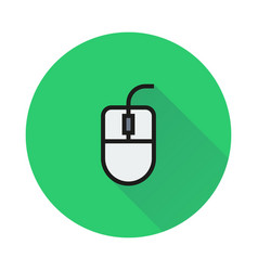 computer mouse icon on round background vector image