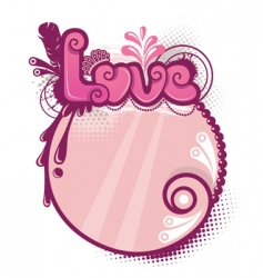 decorative love vector image