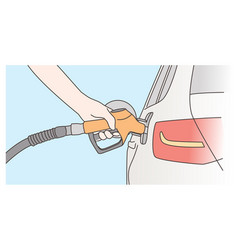 economy filling petrol concept vector image