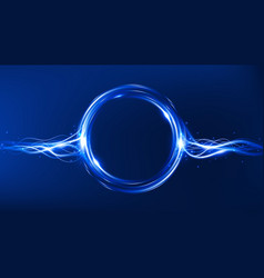 energy flow magic frame light effect vector image