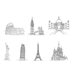 famous places world vector image