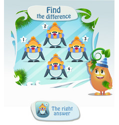 Find he difference penguin 3 vector