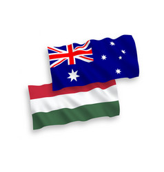 Flags hungary and australia on a white vector