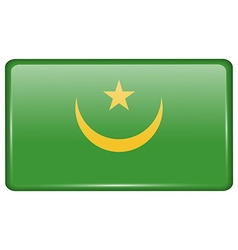 Flags Mauritania in the form of a magnet on vector