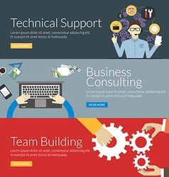 Flat design concept for technical support business vector