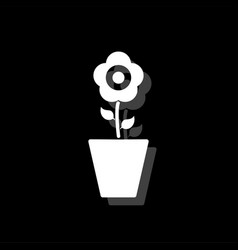 flower in pot icon flat vector image