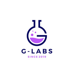 g letter labs logo icon vector image