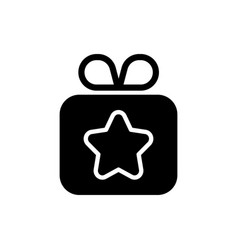 gift black glyph icon vector image
