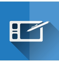 graphic tablet flat icon vector image