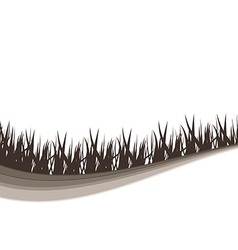 Grass black background vector