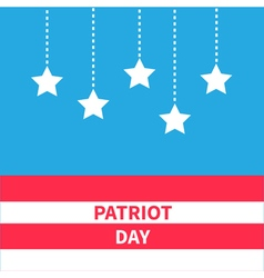 Hanging stars with dash line Patriot day vector