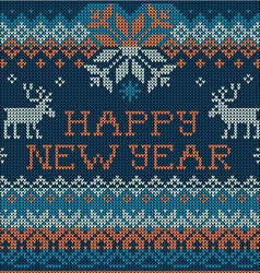 Happy new year scandinavian style seamless knit vector
