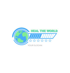 Heal world design vector