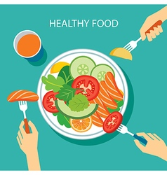 healthy food concept flat design vector image