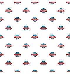 heroes veterans day pattern seamless vector image