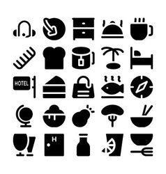 Hotel and restaurant icons 10 vector