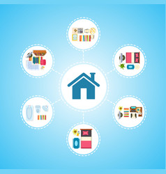 house icon and living space vector image