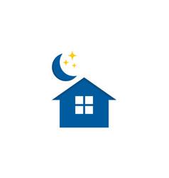 House sleep logo icon design vector