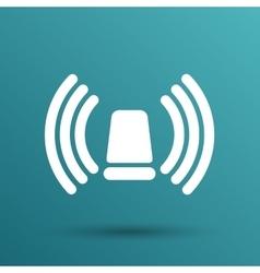 icon beacon siren isolated caution police white vector image
