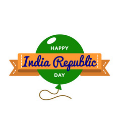 India republic day greeting emblem vector