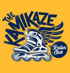kamikaze rolling club grunge design vector image