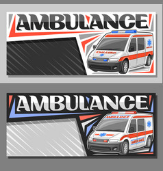 Layouts for ambulance vector