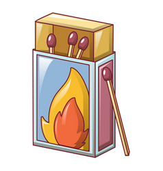 matchbox icon cartoon style vector image