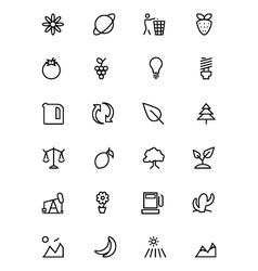 Nature and Ecology Line Icons 2 vector