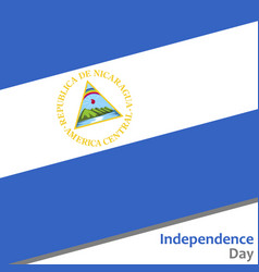 nicaragua independence day vector image