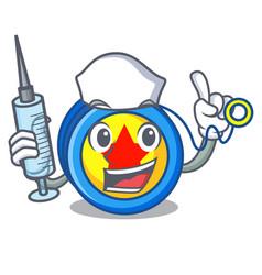 Nurse yoyo character cartoon style vector