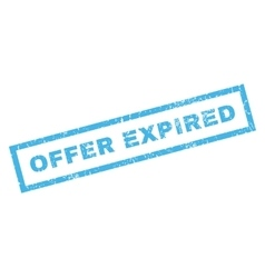 Offer Expiblue Rubber Stamp vector
