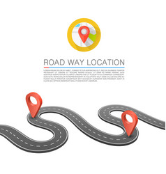 Paved path on the road road way location vector