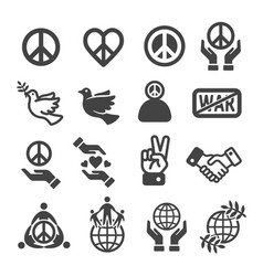 Peace icon vector