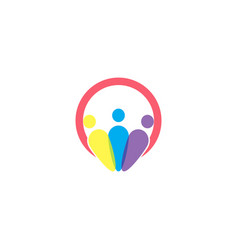 people family together human unity team bubble vector image