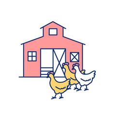 Poultry farm rgb color icon vector