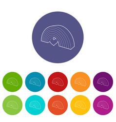 rainbow homosexual minority icon outline style vector image