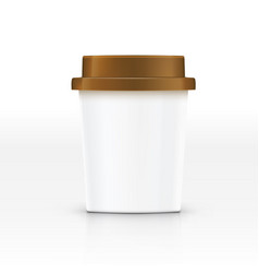 realistic blank paper coffee cup for branding vector image