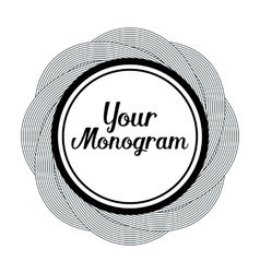 round monogram design element vector image