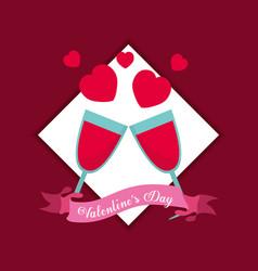 saint valentines day design vector image