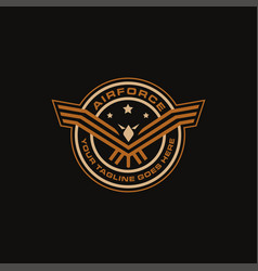 seal badge emblem airforce eagle logo icon vector image