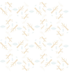 Seamless pattern with nature elements on a vector